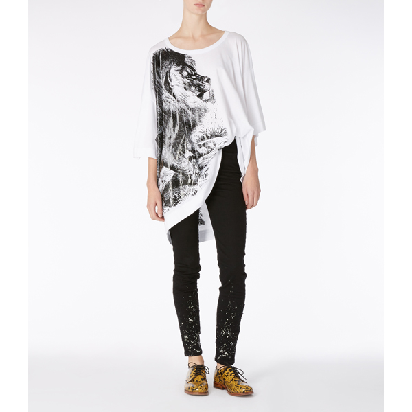 Women Vivienne Westwood LION BIG MAN T-SHIRT Outlet Online