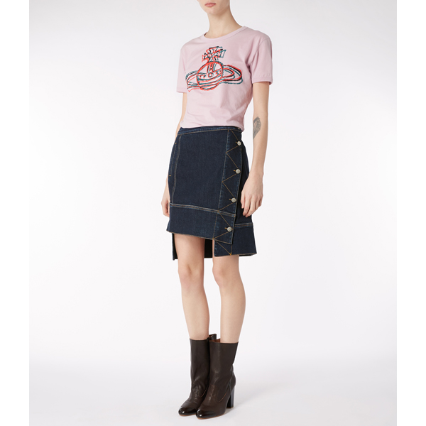 Women Vivienne Westwood LILAC CRACKED ORB T-SHIRT Outlet Online