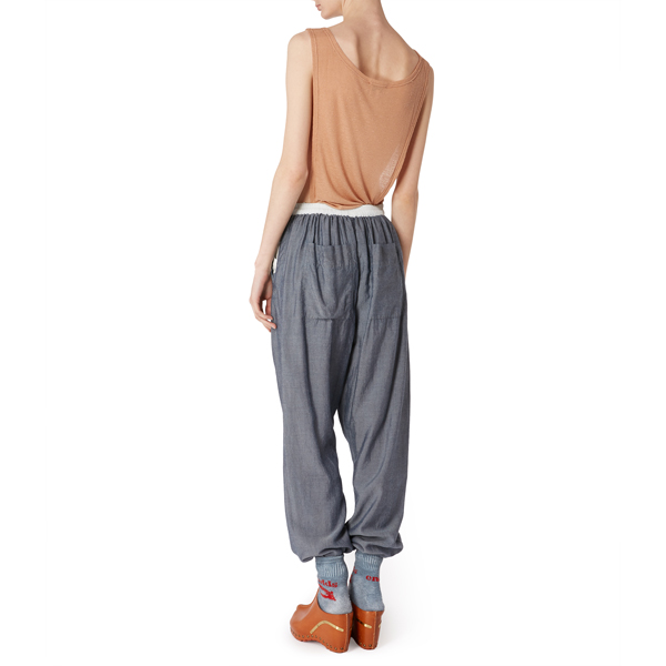 Women Vivienne Westwood CONTADINI TROUSERS BLUE Outlet Online
