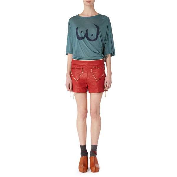 Women Vivienne Westwood EUROPA SHORTS RED Outlet Online