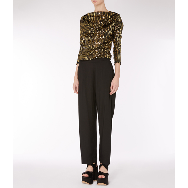 Women Vivienne Westwood BLACK ELISA TROUSERS Outlet Online