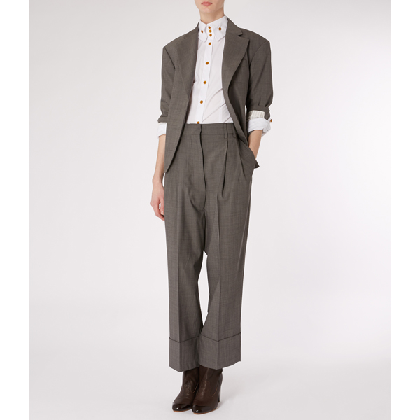 Women Vivienne Westwood MAN GABLE TROUSERS GREY Outlet Online