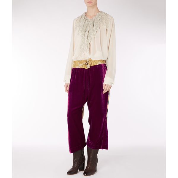 Women Vivienne Westwood VELVET BAMBOO TROUSERS FUCHSIA Outlet Online