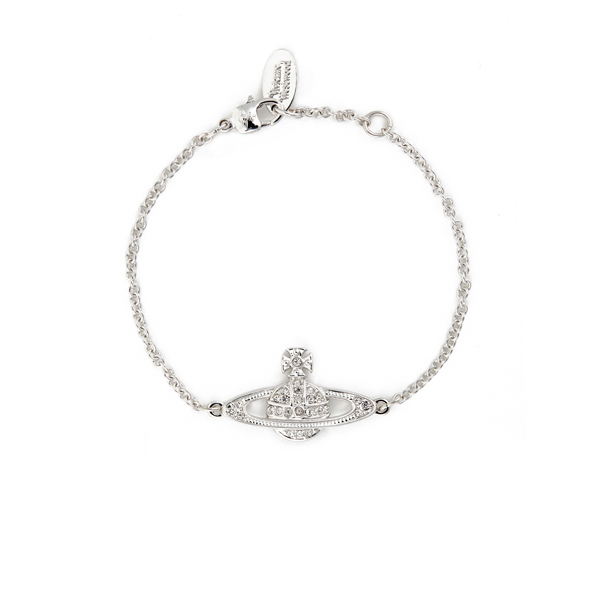 Women Vivienne Westwood MINI BAS RELIEF CHAIN BRACELET CRYSTAL Outlet Online