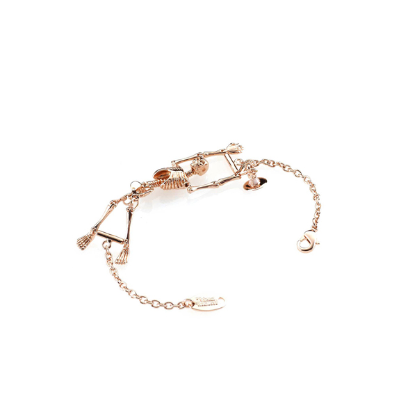 Women Vivienne Westwood SKELETON BRACELET ROSE GOLD Outlet Online