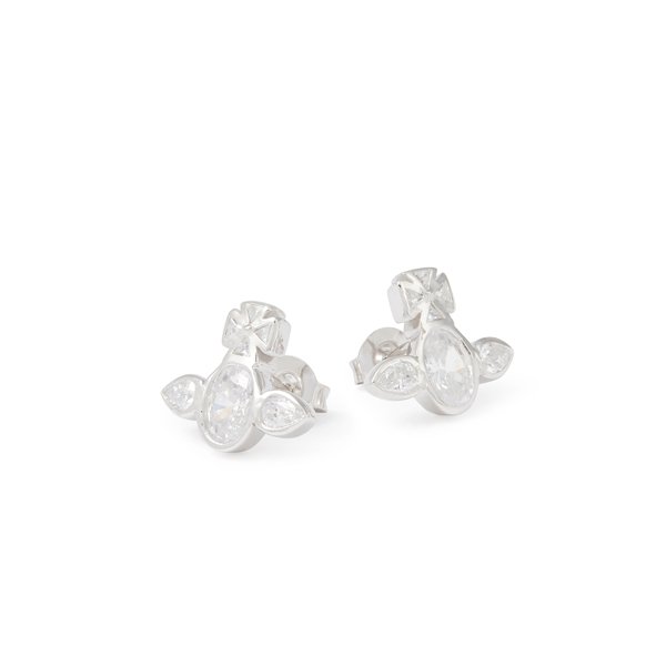 Women Vivienne Westwood STERLING SILVER CARMELLA EARRINGS Outlet Online