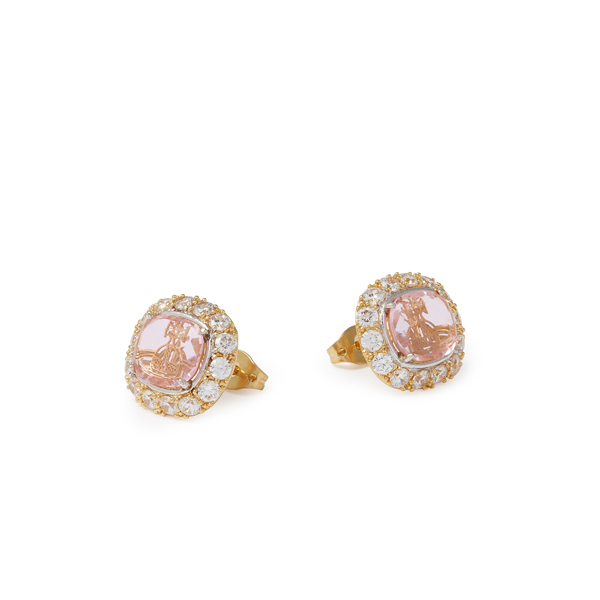 Women Vivienne Westwood ELECTRA STUD EARRINGS PINK Outlet Online