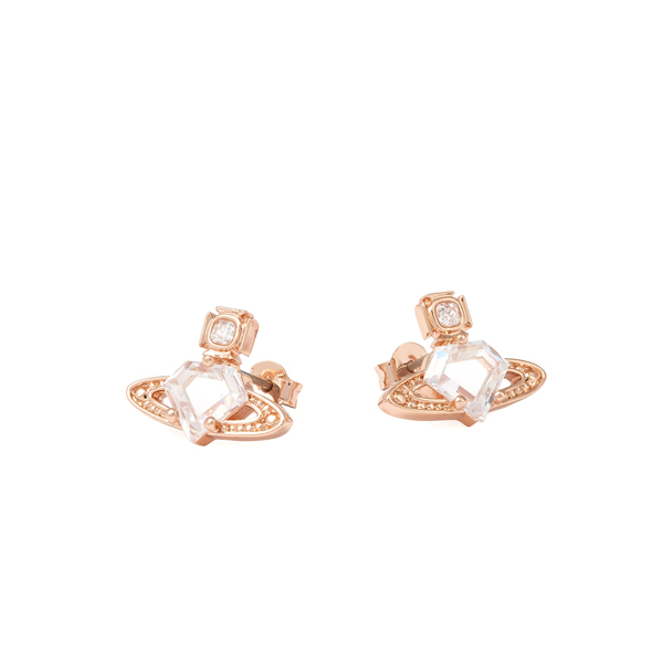 Women Vivienne Westwood SINEAD BAS RELIEF EARRINGS PINK Outlet Online