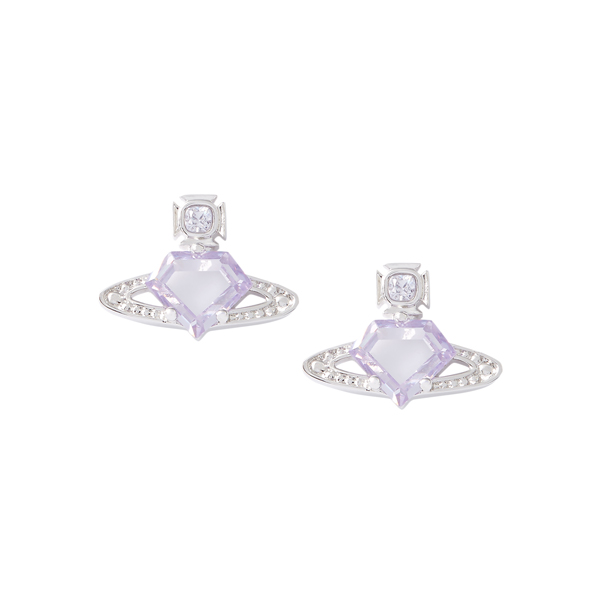Women Vivienne Westwood SINEAD BAS RELIEF EARRINGS LAVANDER Outlet Online