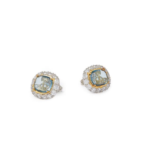 Women Vivienne Westwood ELECTRA STUD EARRINGS BLUE Outlet Online