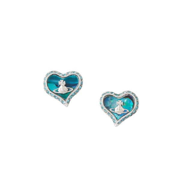 Women Vivienne Westwood PETRA EARRINGS BLUE Outlet Online