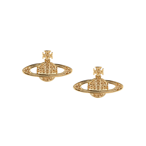 Women Vivienne Westwood MINI BAS RELIEF EARRINGS LIGHT TOPAZ Outlet Online