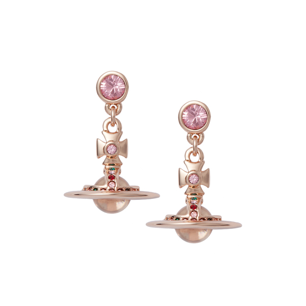 Women Vivienne Westwood LIGHT ROSE NEW PETITE ORB EARRINGS Outlet Online