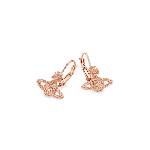 Women Vivienne Westwood GRACE BAS RELIEF EARRINGS LIGHT PEACH Outlet Online