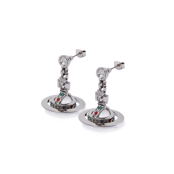 Women Vivienne Westwood GUNMETAL NEW PETITE ORB EARRINGS Outlet Online