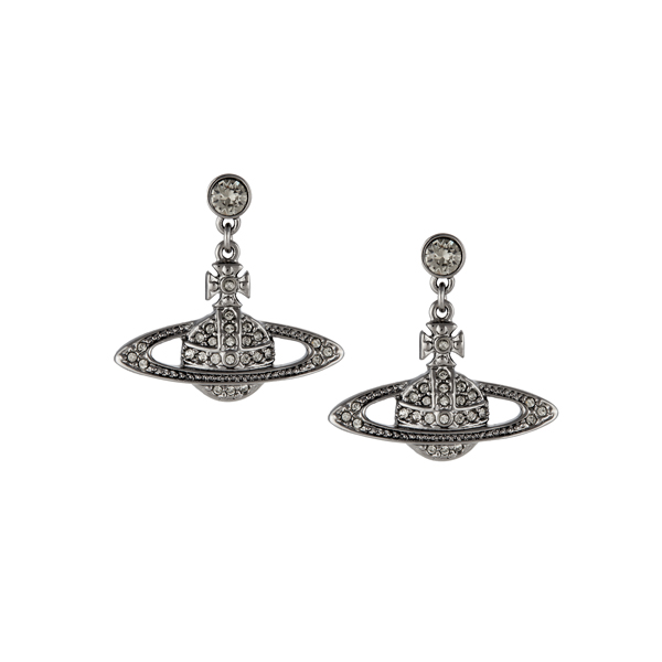 Women Vivienne Westwood MINI BAS DROP EARRINGS BLACK DIAMOND Outlet Online