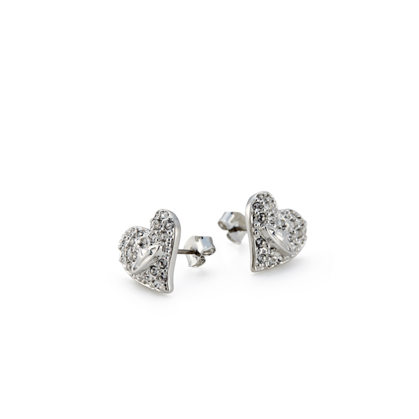 Women Vivienne Westwood TINY DIAMANTE HEART STUDS Outlet Online