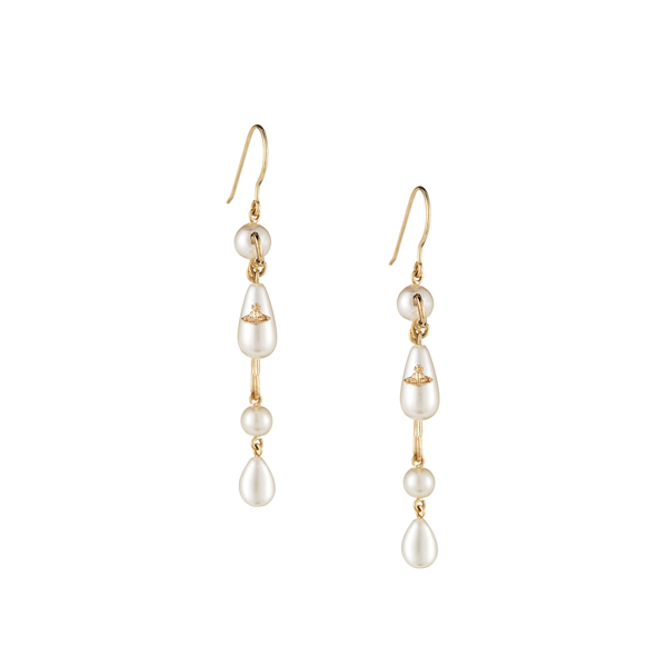 Women Vivienne Westwood JORDAN LONG EARRINGS Outlet Online
