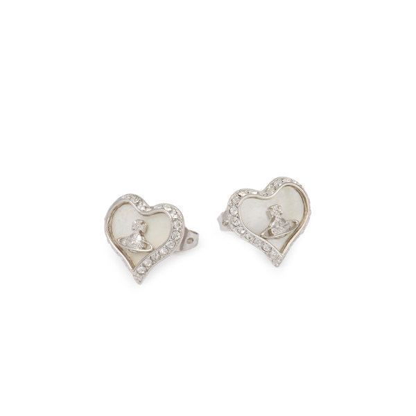 Women Vivienne Westwood PETRA EARRINGS WHITE Outlet Online