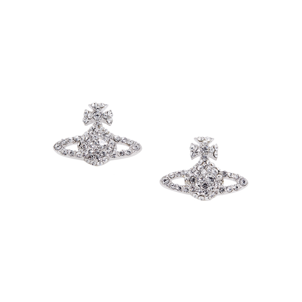 Women Vivienne Westwood GRACE BAS RELIEF STUD EARRINGS CRYSTAL Outlet Online