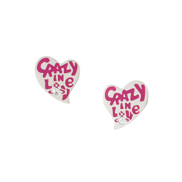 Women Vivienne Westwood STERLING SILVER CRAZY IN LOVE EARRINGS Outlet Online
