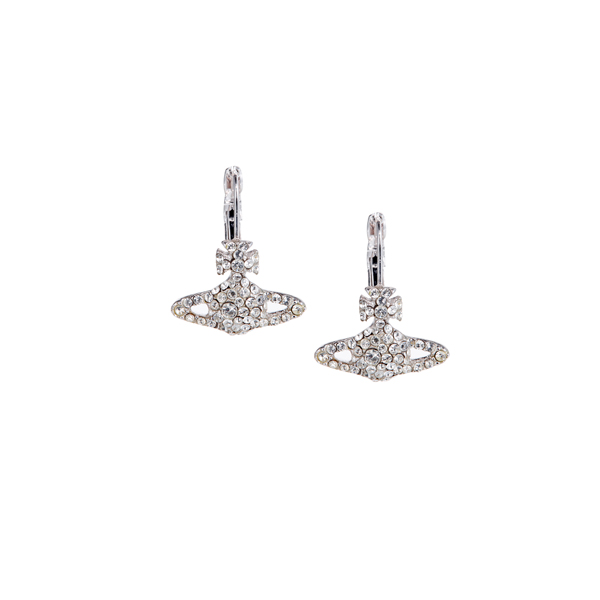 Women Vivienne Westwood GRACE BAS RELIEF EARRINGS CRYSTAL Outlet Online