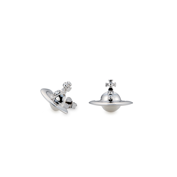 Women Vivienne Westwood SOLID ORB EARRINGS SILVER Outlet Online