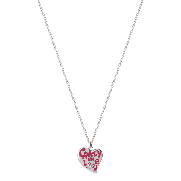 Women Vivienne Westwood STERLING SILVER CRAZY IN LOVE PENDANT Outlet Online