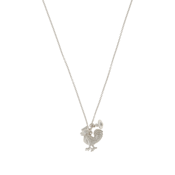 Women Vivienne Westwood STERLING SILVER ROOSTER PENDANT Outlet Online