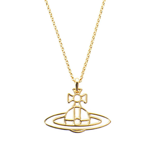 Women Vivienne Westwood THIN LINES ORB PENDANT GOLD Outlet Online