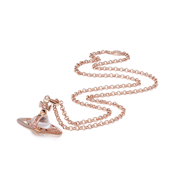 Women Vivienne Westwood LIGHT ROSE NEW SMALL ORB PENDANT Outlet Online