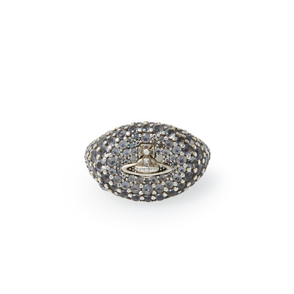 Women Vivienne Westwood SULTANA RING OXIDISED SILVER Outlet Online