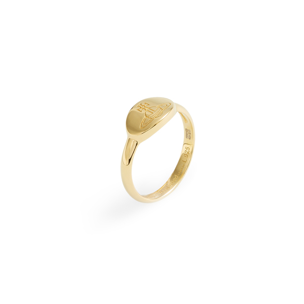 Women Vivienne Westwood TILLY RING YELLOW GOLD Outlet Online