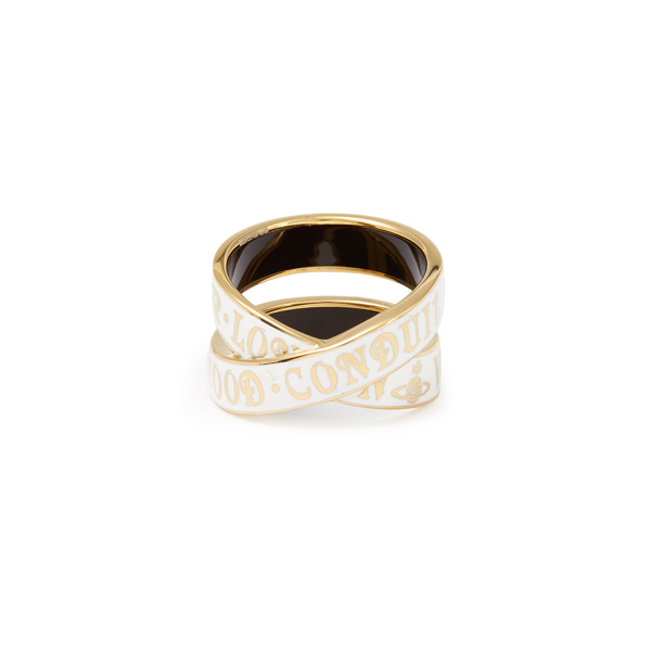 Women Vivienne Westwood MARBLE ARCH RING WHITE Outlet Online