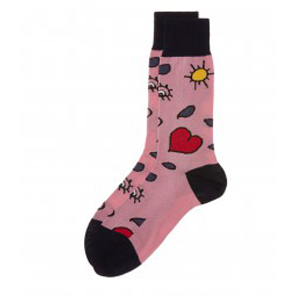 Men Vivienne Westwood PINK HEART AND EYE SOCKS Outlet Online