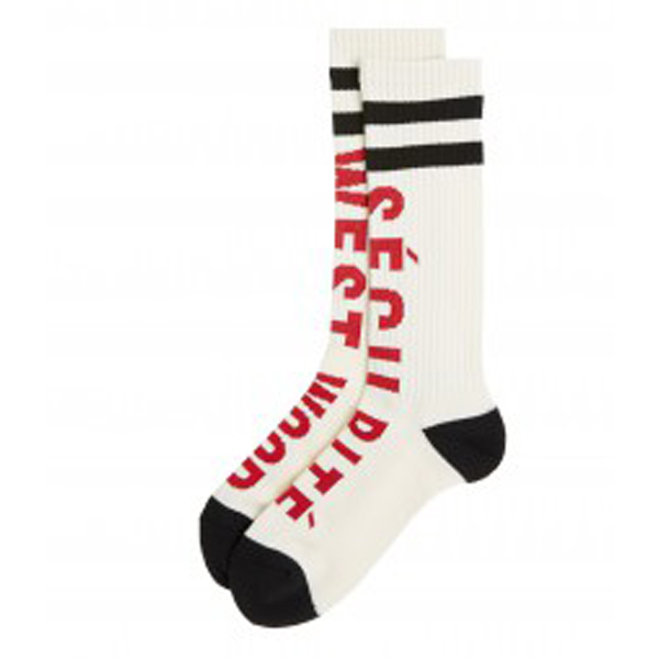 Men Vivienne Westwood WHITE SECURITE' SOCKS Outlet Online