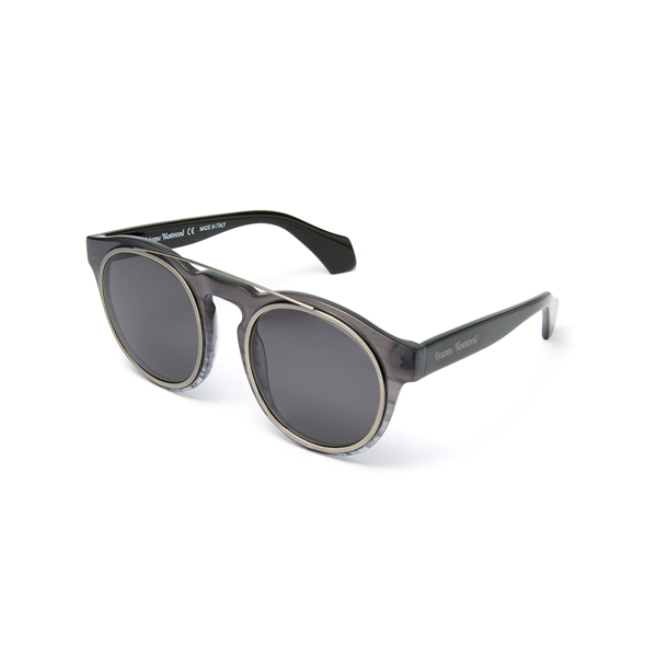 Men Vivienne Westwood OVERSTRUCTURED SUNGLASSES GREY VW934S01 Outlet Online
