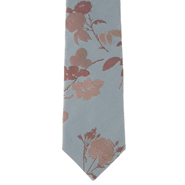Men Vivienne Westwood LIGHT BLUE FLORAL JACQUARD TIE Outlet Online