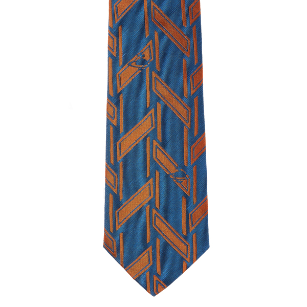 Men Vivienne Westwood LIGHT BLUE/ORANGE JACQUARD TIE Outlet Online
