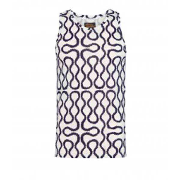 Men Vivienne Westwood NAVY/WHITE SQUIGGLE VEST Outlet Online