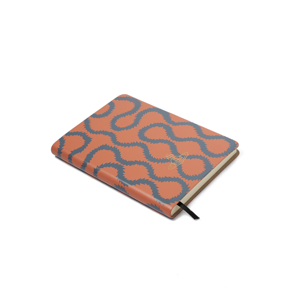 Men Vivienne Westwood A5 CORAL SQUIGGLE NOTEBOOK Outlet Online