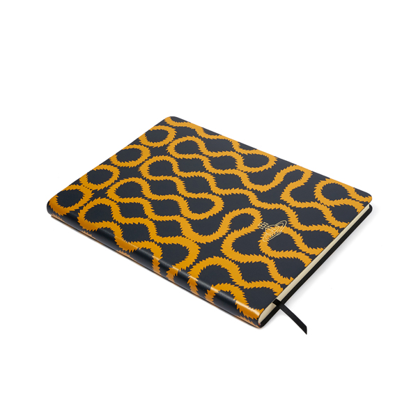 Men Vivienne Westwood A4 NAVY SQUIGGLE NOTEBOOK Outlet Online