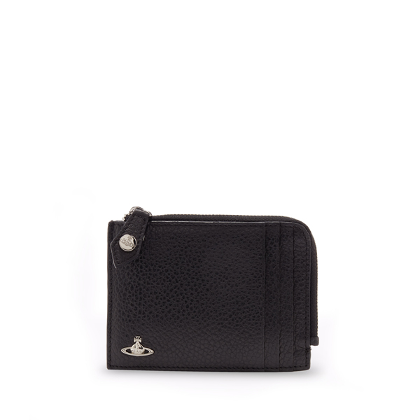 Men Vivienne Westwood MILANO ZIP CREDIT CARD HOLDER 33363 BLACK Outlet Online