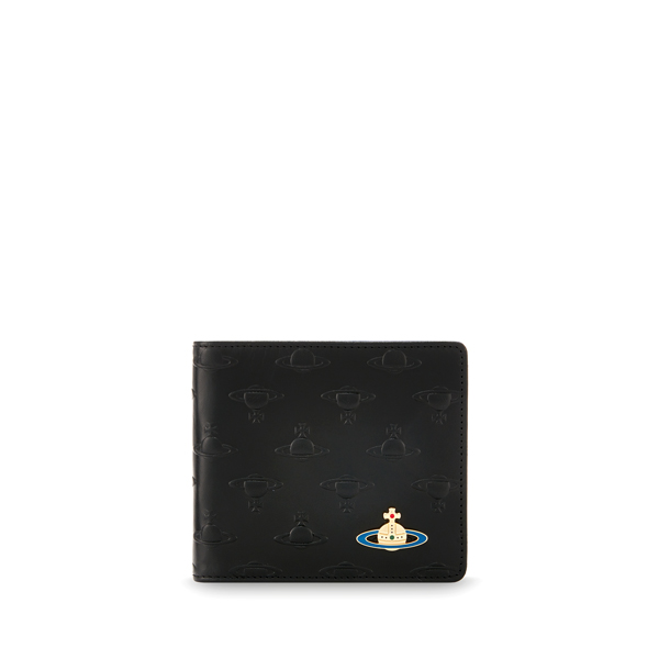 Men Vivienne Westwood ORBS WALLET 730 BLACK Outlet Online