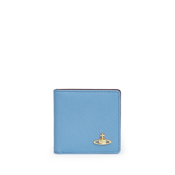 Men Vivienne Westwood SAFFIANO WALLET 730 BLUE Outlet Online