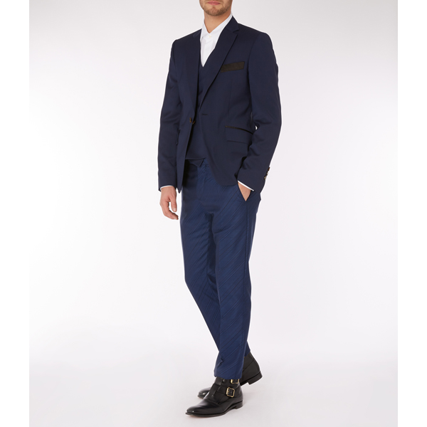 Men Vivienne Westwood EVENING WAISTCOAT JACKET NAVY Outlet Online