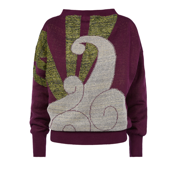 Men Vivienne Westwood CLASSIC SWEATER FANTASY INTARSIO Outlet Online