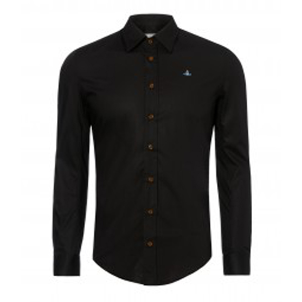 Men Vivienne Westwood CLASSIC STRETCH SHIRT BLACK Outlet Online