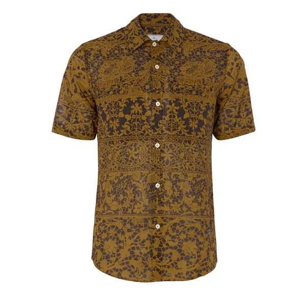 Men Vivienne Westwood RATTLE SHIRT GOLD Outlet Online
