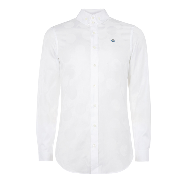 Men Vivienne Westwood TWO BUTTON KRALL SHIRT WHITE SUN AND MOON Outlet Online